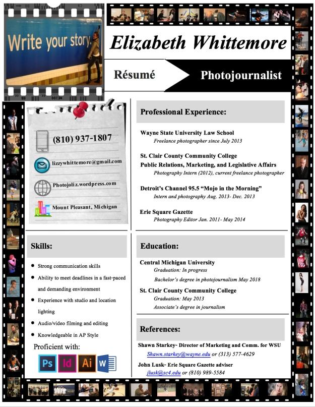 PDF photo resume